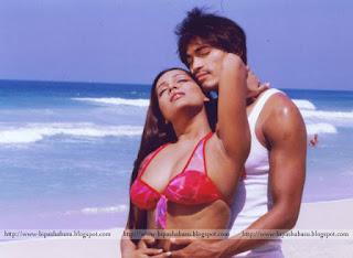 Meghna Naidu Hot Bikini With Her Co Star