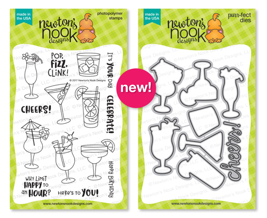 Cocktail Mixer | Tropical Drinks Stamp set by Newton's Nook Designs #newtonsnook