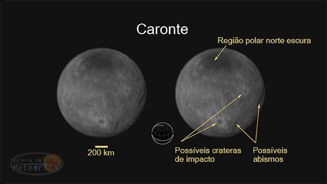 Caronte - crateras e abismos