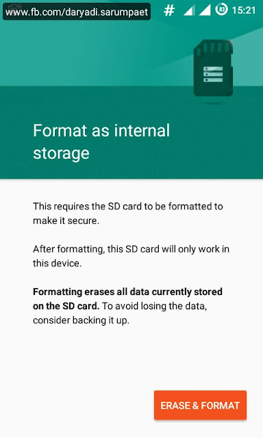 format as internal external sdcard on android marshmallow