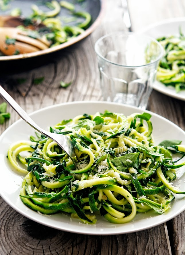 Garlic Butter Zoodles with Herbs