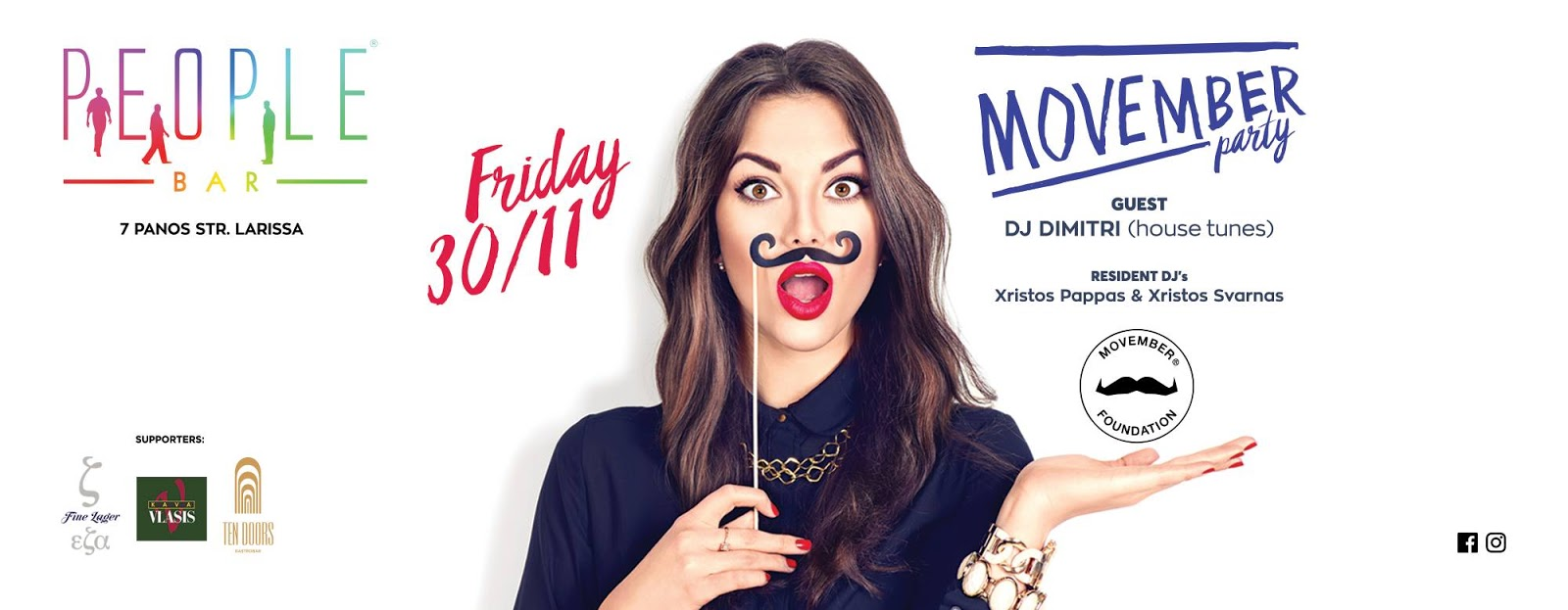 Βράδυ Παρασκευής το Movember Party έρχεται στο PEOPLE