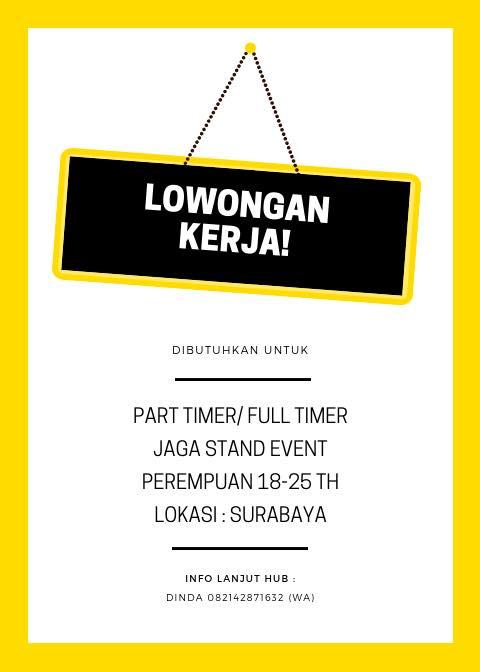 Lowongan Kerja Part Time Surabaya Barat