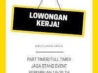 lowongan kerja part time jaga stand Surabaya