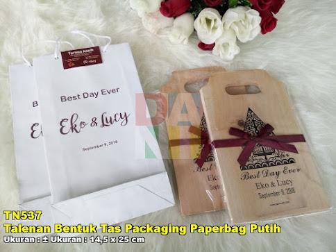 Talenan Bentuk Tas Packaging Paperbag Putih