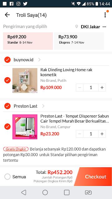 Belanja online di Lazada Indonesia