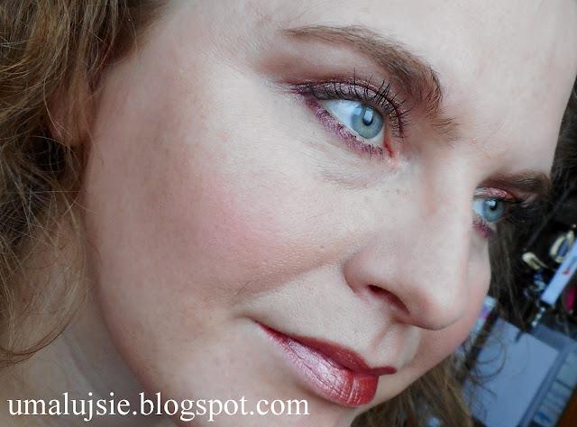 Makijaż nowości w akcji: pigment Glam Shadows i metaliczna kredka Golden Rose