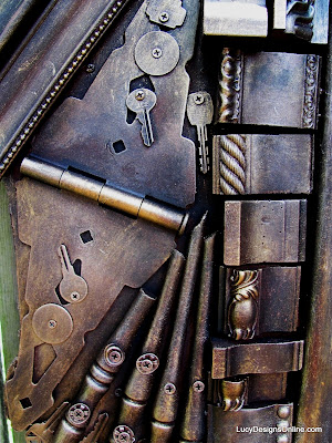 hinges and keys on butterfly art