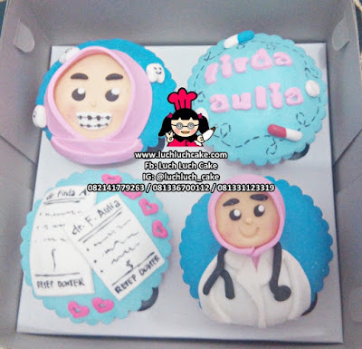 Cupcake Tema Dokter Gigi dan Dokter Jantung