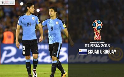 Susunan Pemain Uruguay di Piala Dunia 2018