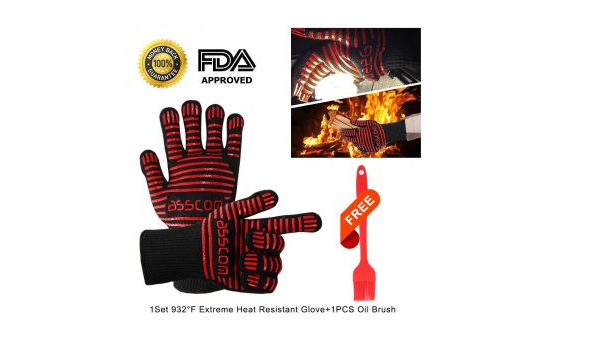 Asscom BBQ Grilling cooking gloves