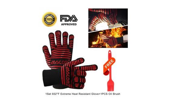 Asscom BBQ Grilling cooking gloves