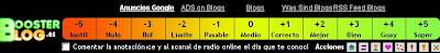 BoosterBlog calificaciones rating blogger bau blogspot