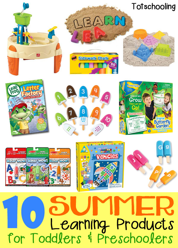 This list of 10 summer educational products will keep your toddler or preschooler learning and having fun, whether they are indoor, outdoor or in the car!
