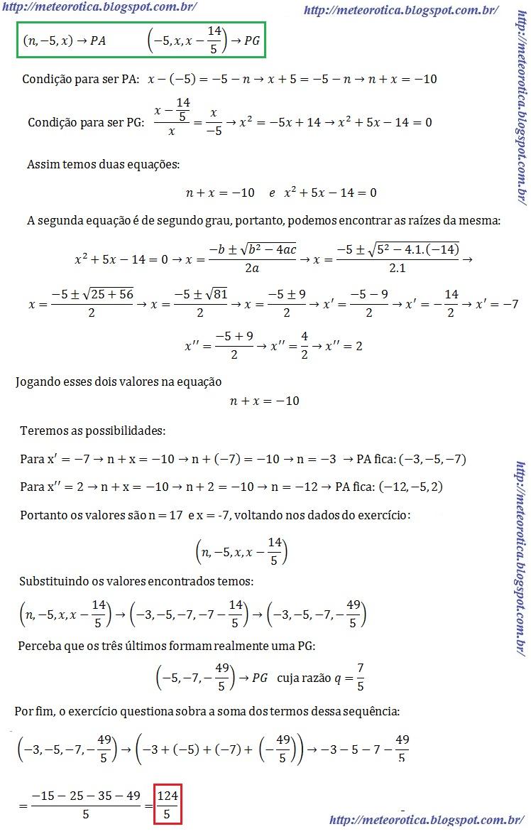 EXERCICIOS PA E PG PDF