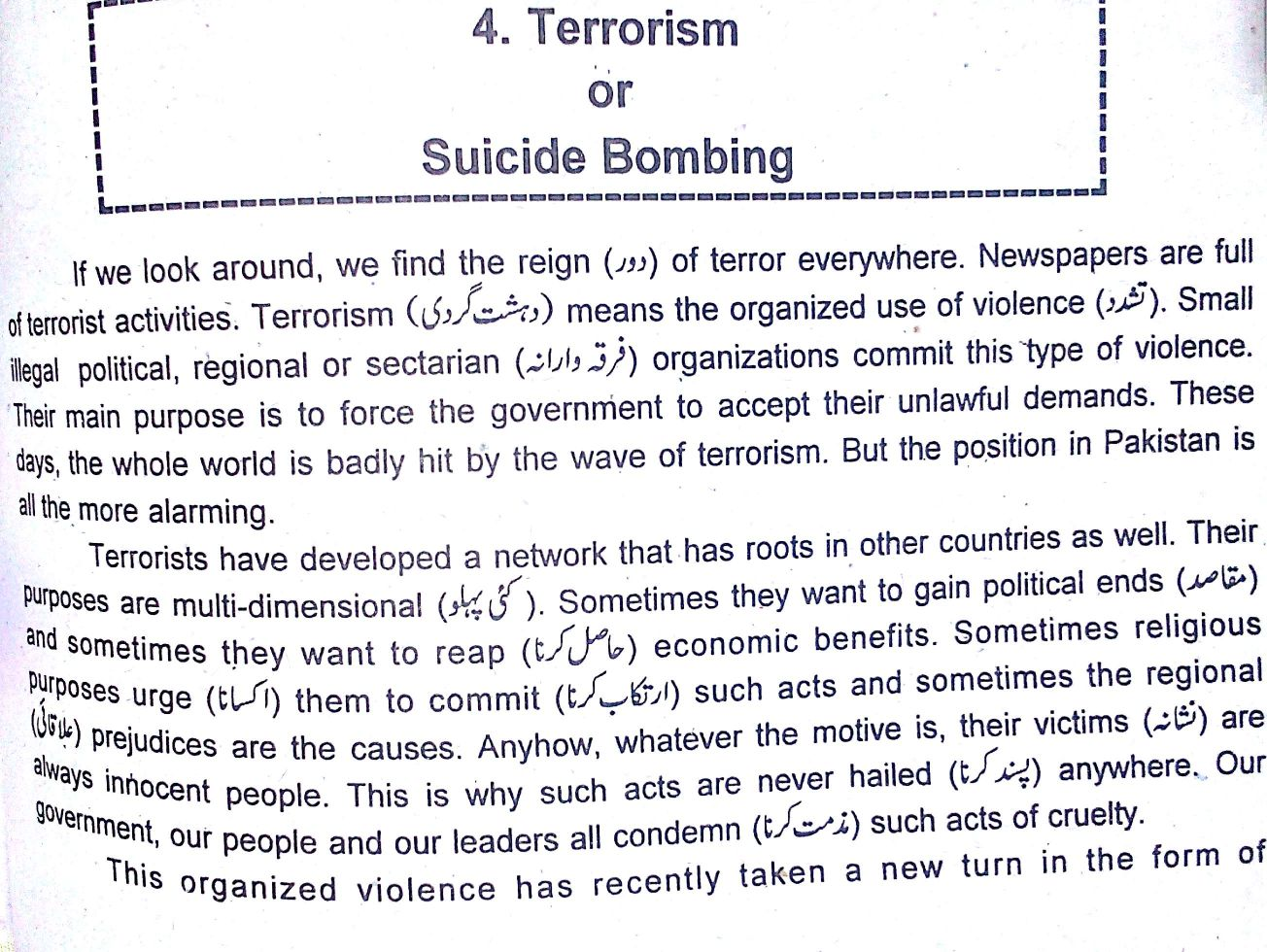 suicide bombers research paper