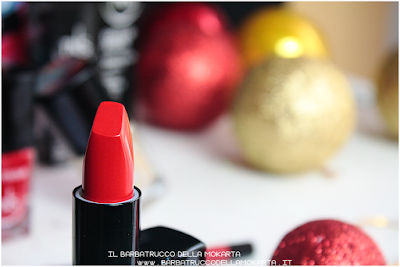 recensione Lipstick lip pencil rosso  oro best wishes TNS cosmetics Christmas