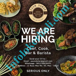 Info Lowongan Kerja Paon Dahar - Grilled Seafood Juni 2019