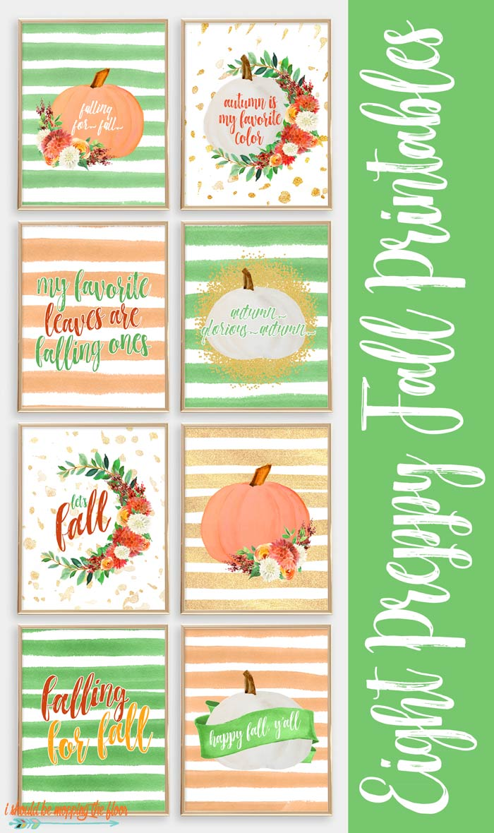 Preppy Fall Printables