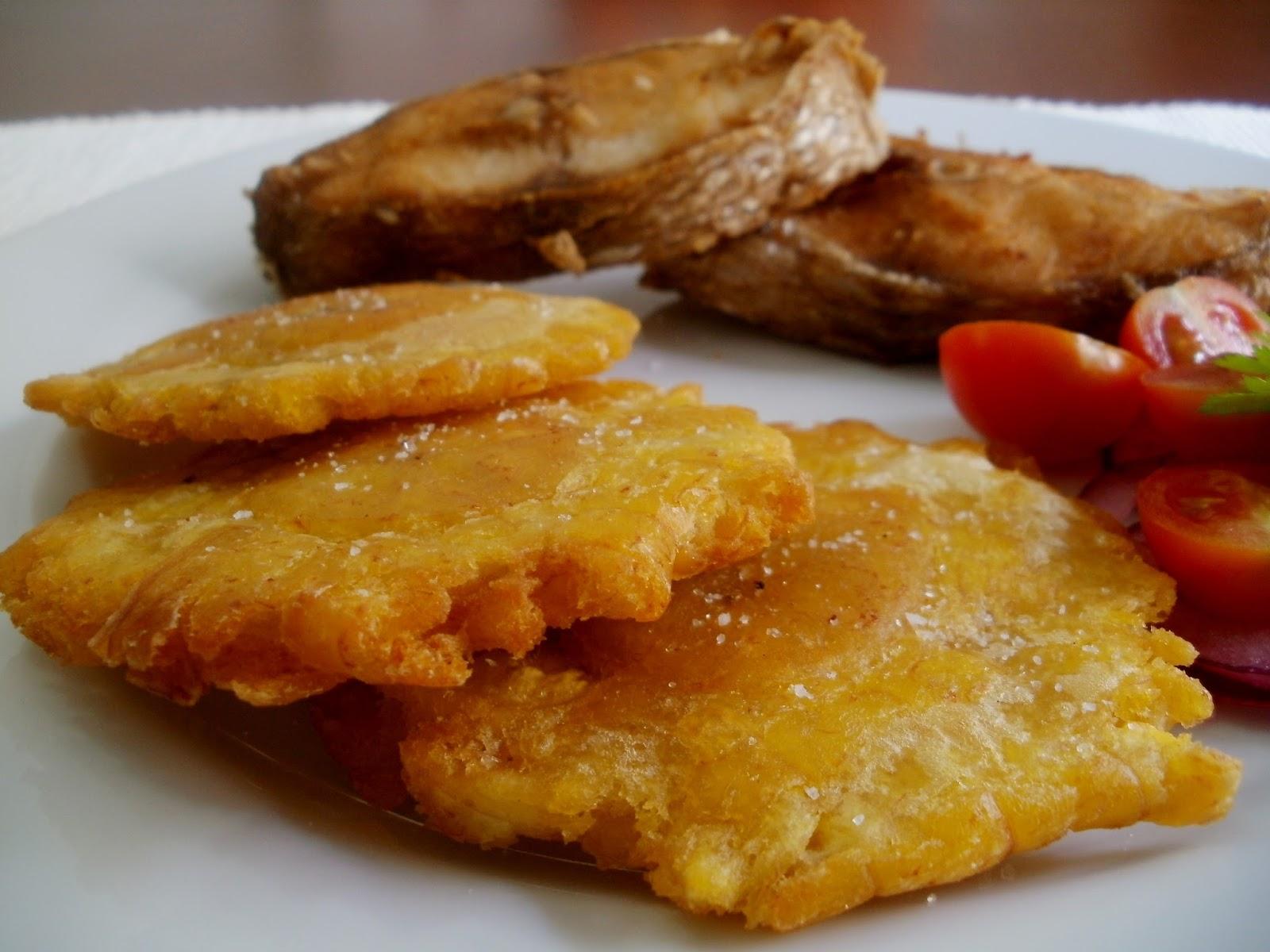 Pargo frito con patacones