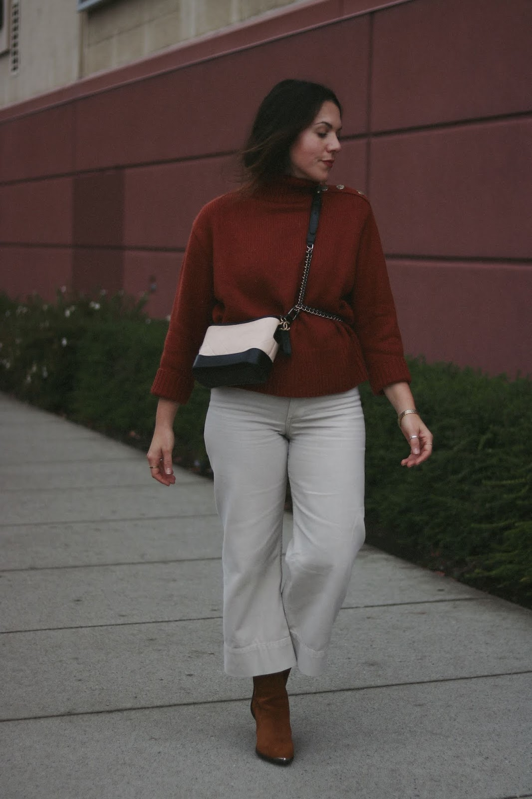 Chanel Gabrielle bag small outfit vancouver fashion blogger zara turtleneck thrills jeans
