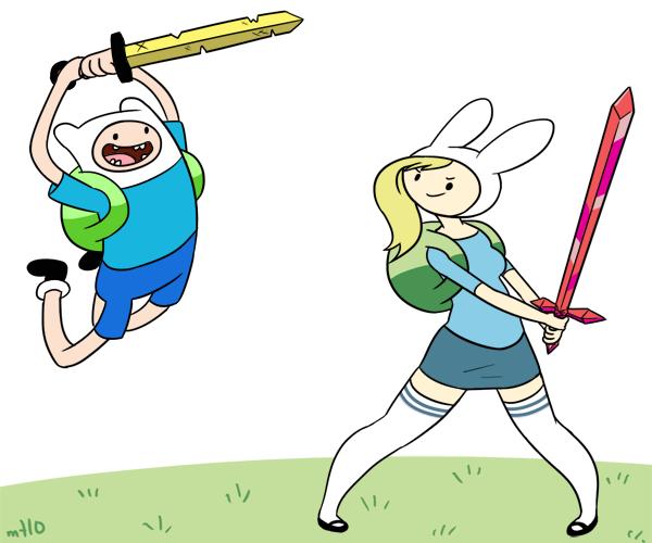 Mararía Y El Manga: Hora De Aventuras: Fiona Y Cake