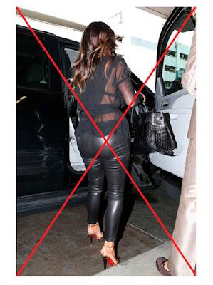 Ким Кардашьян в безвкусных кожаных брюках