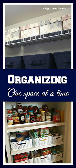 Organizing One Space at a Time - Sometimes conquering a small project can get you motivated to do more!