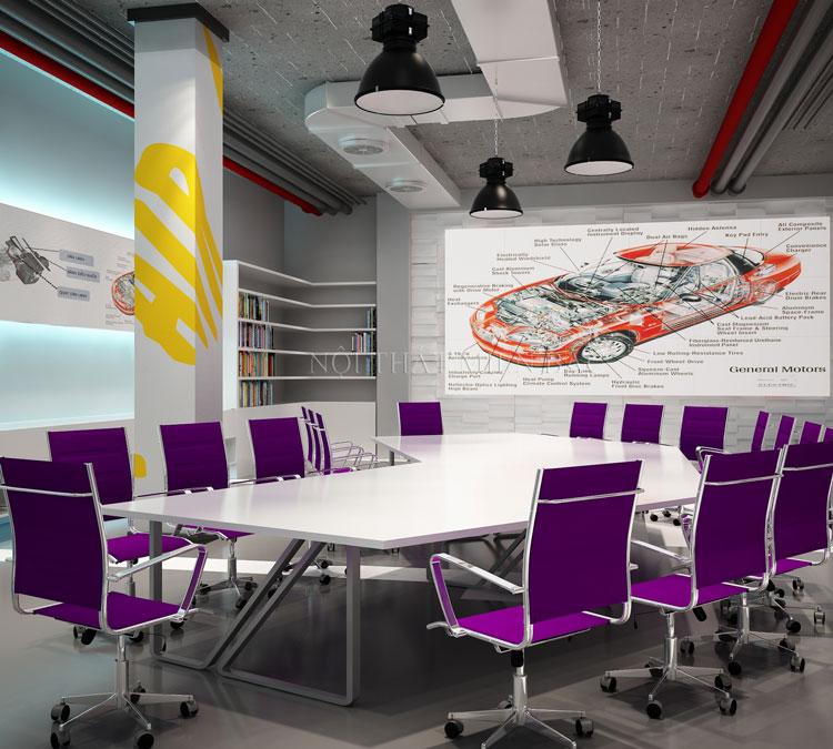 Thiết kế phòng họp sang trọng, giá rẻ, trẻ trung, linh hoạt