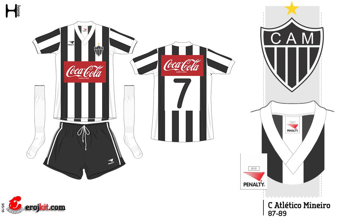 Kit Design By Eroj 1987 89 Atletico Mg Home E Away