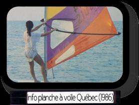 Info planche à voile Québec