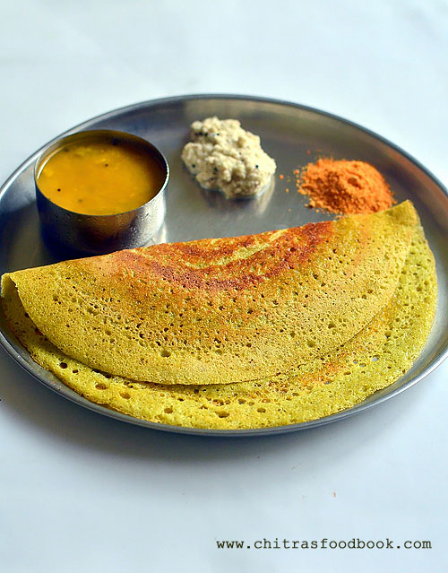 mint coriander leaves dosa recipe