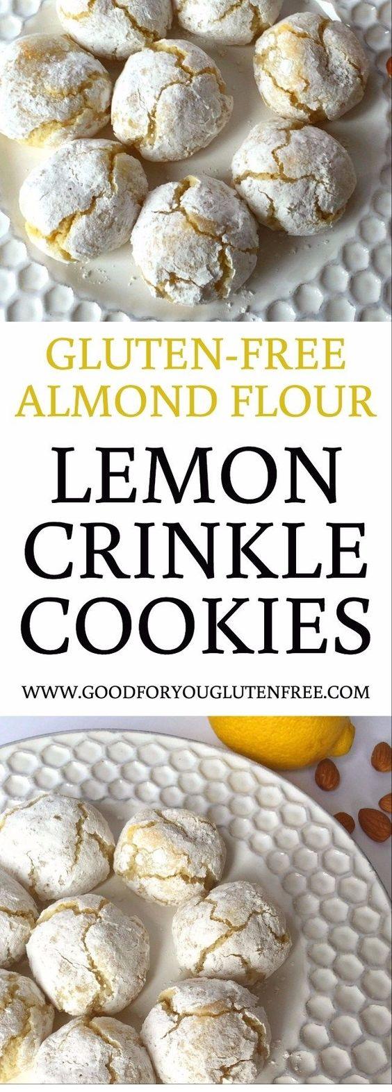 Gluten-Free Lemon Crinkle Cookies