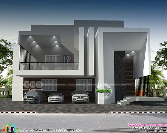 European model contemporary home plan