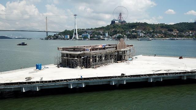 Tiến độ cảng tàu khách quốc tế Hòn Gai