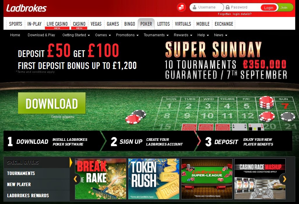 Ladbrokes Poker Screen