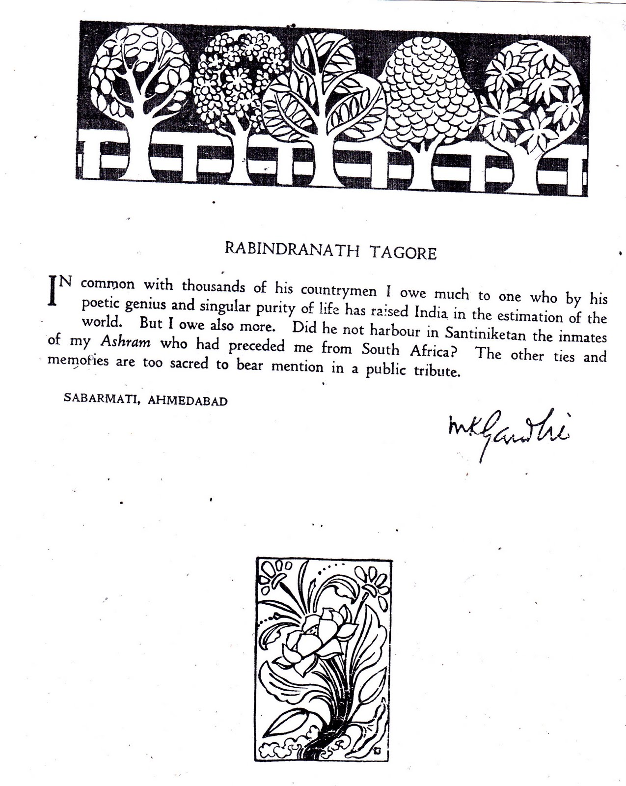 SMARAKA GRANTHA: From The Golden Book of Tagore (contd-1)