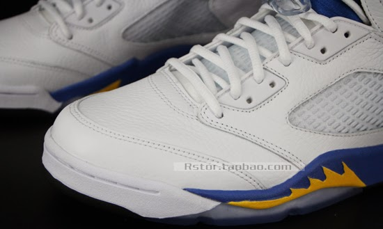 innovative design 7a634 4fae9 jordan retro 5 white maize royal black For the Air Jordan 5 Laney, Jordan  Brand looked ...