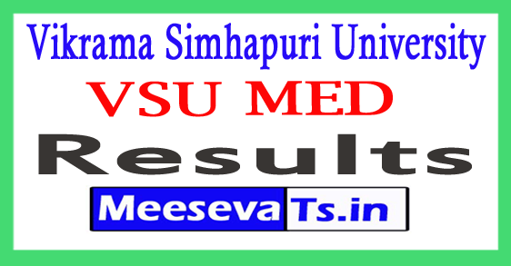 Vikrama Simhapuri University  MED 2nd Sem Exams Results