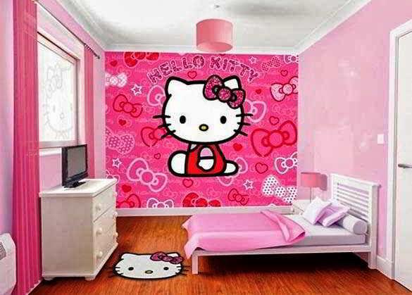 23 Desain Wallpaper Kamar Hello Kitty Sederhana Anak Remaja