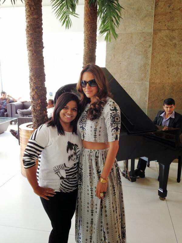 Neha Dhupia innaugrating Alpha business center @ Ahmedabad