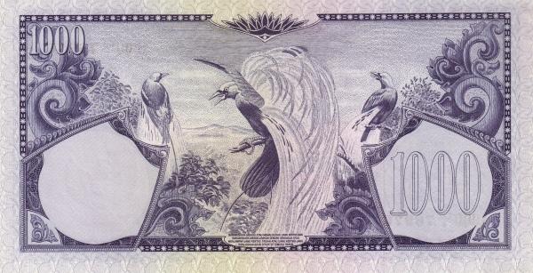 1000 rupiah 1960 belakang