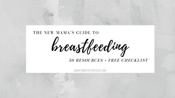 breastfeeding guide checklist