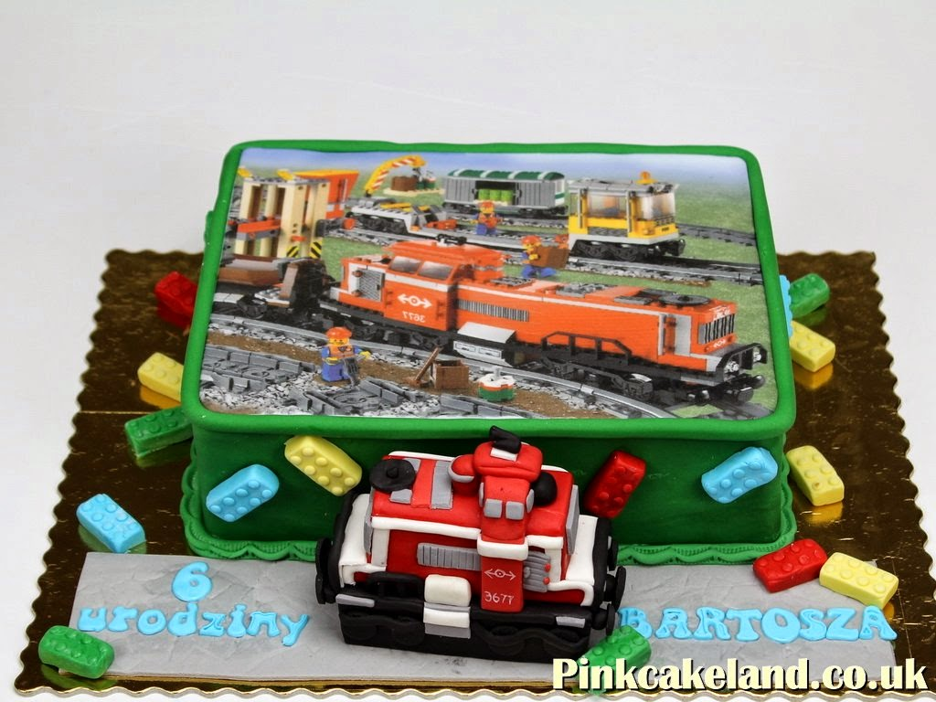 Lego Train Birthday Cake, London