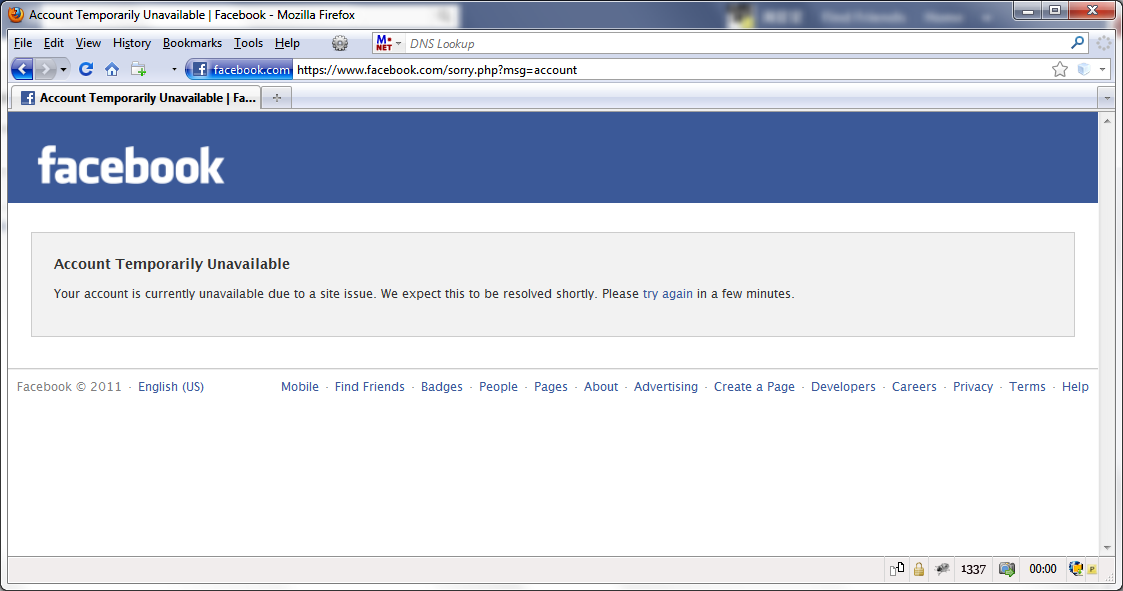 how to cancel fb account temporarily