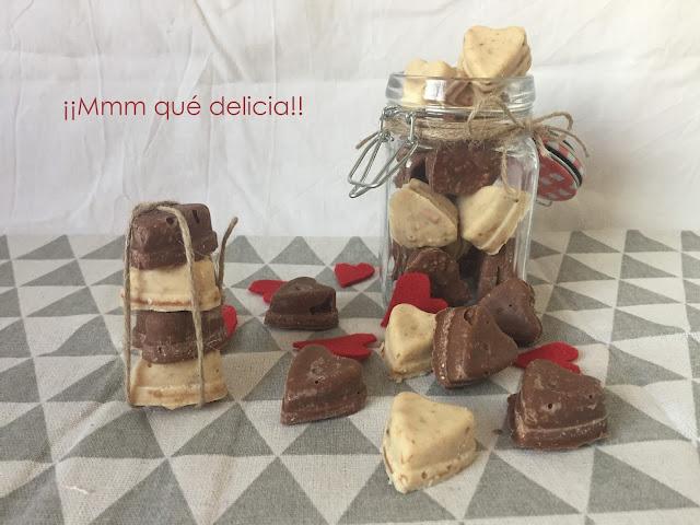 ROCAS DE CHOCOLATE PARA SAN VALENTÍN