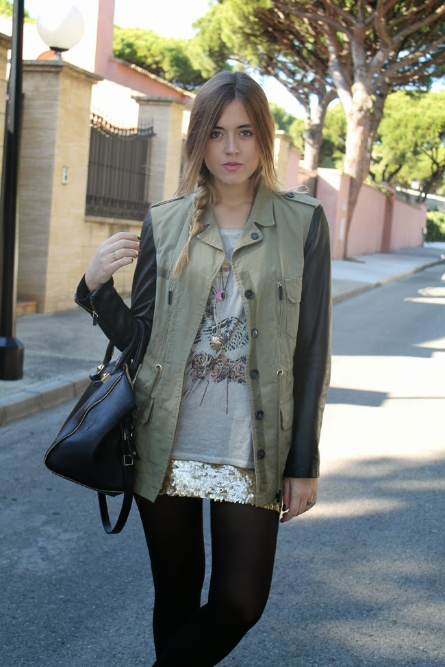 b56b599f43 Parka  Zara(old)   Skirt  Queen s Wardrobe   Tee  Zara(A W 2012)   Bag  Zara(S S2013)   Booties  Pepe Jeans(A W 2013)  Necklaces  Bimba y Lola and Les ...