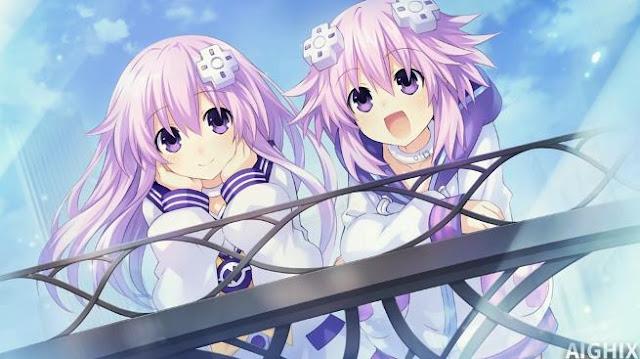 Karakter Anime Perempuan Berambut Ungu Terbaik dan Tercantik - Neptune & Nepgear (Choujigen Game Neptune The Animation)
