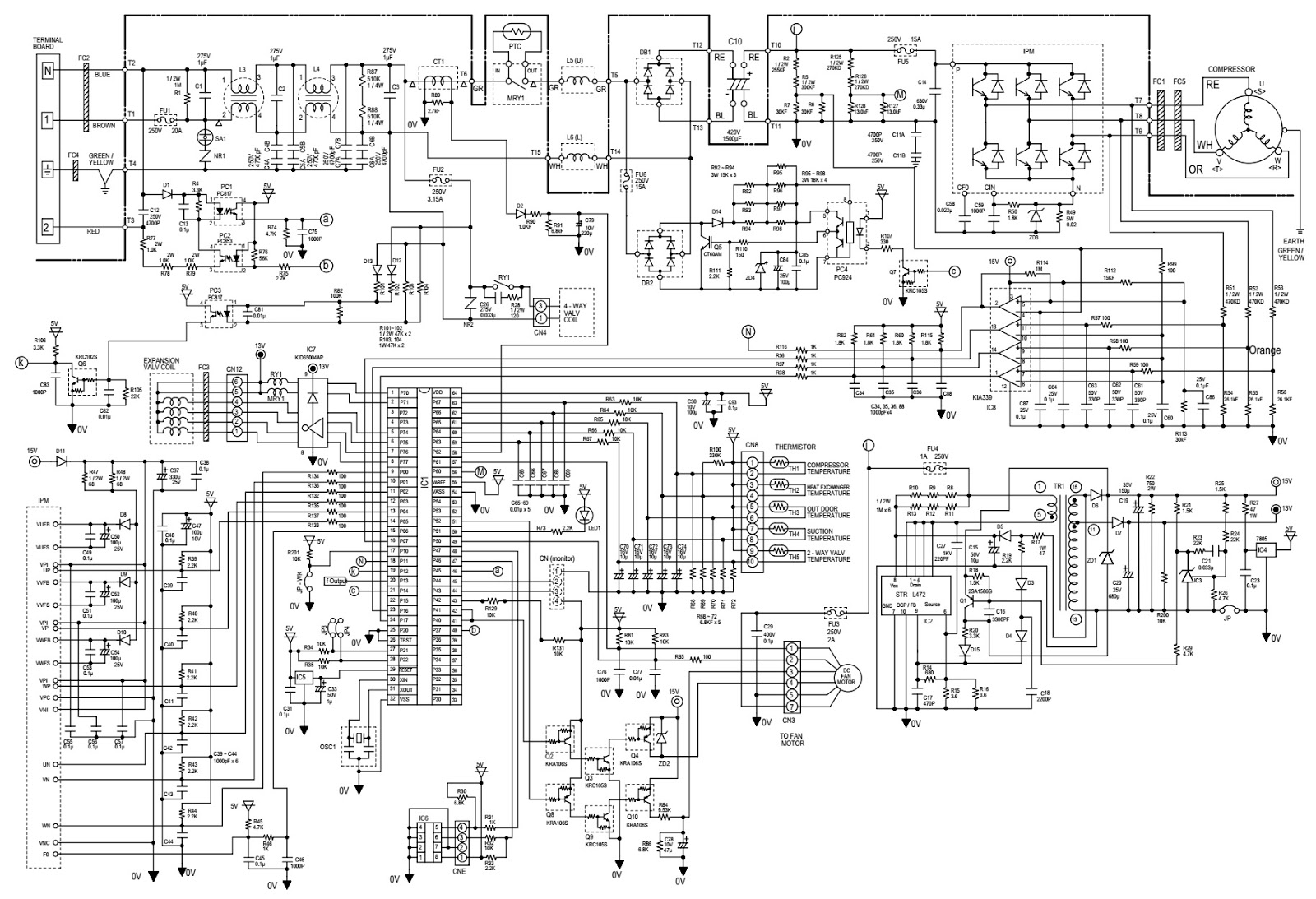 Ac Unit Wiring Diagram Schematic Schematics Diagrams Coleman Sharp Split Type Room Air Conditioners Ay Xp07er Goodman