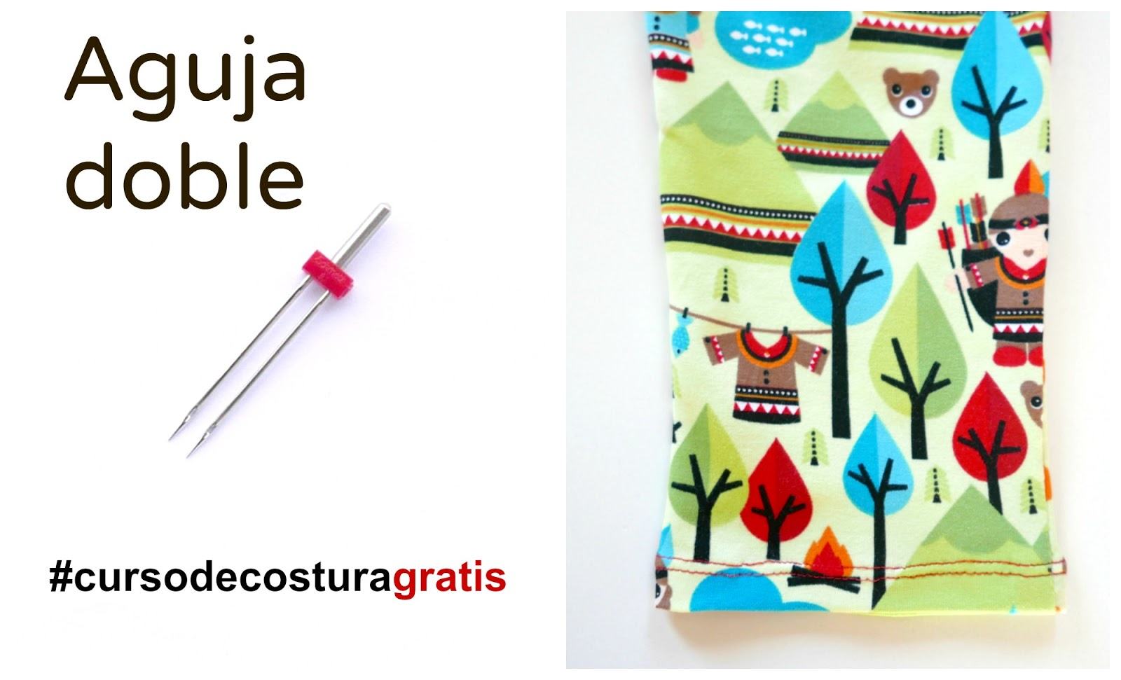 Cómo coser con aguja doble: Tutorial ~ Colours for Baby